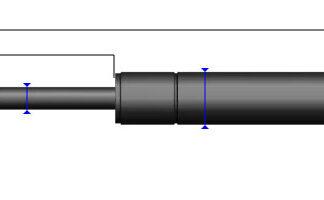 sprężyny gazowe pchające